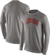 Clemson Tigers Nike Wordmark Long Sleeve T-Shirt - Heathered Gray