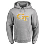 Georgia Tech Yellow Jackets Classic Primary Logo Pullover Hoodie - Ash