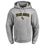 Georgia Tech Yellow Jackets Proud Mascot Logo Pullover Hoodie - Ash