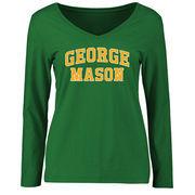 George Mason Patriots Women's Everyday Long Sleeve T-Shirt - Kelly Green
