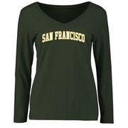 San Francisco Dons Women's Everyday Long Sleeve T-Shirt - Green