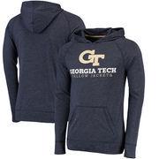 Georgia Tech Yellow Jackets Champion Varsity Play Hooded T-Shirt - Heathered Navy