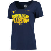 West Virginia Mountaineers Nike Women's Fan T-Shirt - Navy -