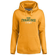 San Francisco Dons Women's Classic Wordmark Pullover Hoodie - Gold
