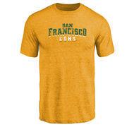 San Francisco Dons Classic Wordmark Tri-Blend T-Shirt - Gold