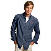 MIT Engineers Hudson Denim Long Sleeve Button-Down Shirt - Blue