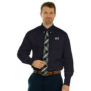 MIT Engineers Wicked Woven Long Sleeve Button-Down Shirt - Black