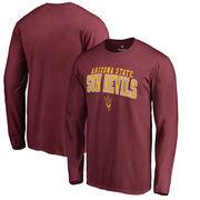Arizona State Sun Devils Fanatics Branded Square Up Long Sleeve T-Shirt - Maroon