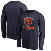 Chicago Bears NFL Pro Line by Fanatics Branded Team Lockup Long Sleeve T-Shirt - Navy
