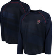 Boston Red Sox Majestic For All Winners Therma Base Raglan Sweatshirt - Navy