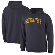 Georgia Tech Yellow Jackets Basic Arch Pullover Hoodie - Navy