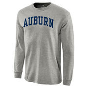 Auburn Tigers Basic Arch Long Sleeve T-Shirt - Gray