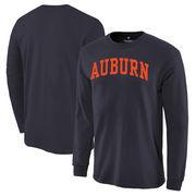 Auburn Tigers Basic Arch Long Sleeve T-Shirt - Navy