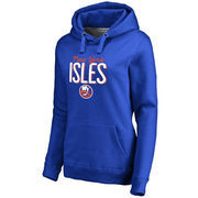 New York Islanders Women's Nostalgia Pullover Hoodie - Royal