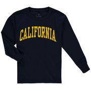 Cal Bears Youth Secondary Logo Basic Arch Long Sleeve T-Shirt - Navy