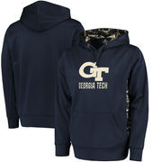 Georgia Tech Yellow Jackets Colosseum Oil Slick Pullover Hoodie - Navy