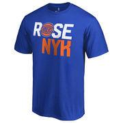 Derrick Rose New York Knicks By Line Player T-Shirt - Royal