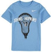 Johns Hopkins Blue Jays Nike Youth Lacrosse Performance T-Shirt - Light Blue