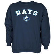 Tampa Bay Rays Stitches Long Sleeve Pullover Sweatshirt - Navy