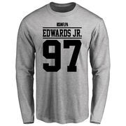Mario Edwards Player Issued Long Sleeve T-Shirt - Ash