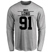 Chris Long Player Issued Long Sleeve T-Shirt - Ash