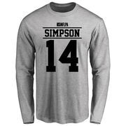 Jerome Simpson Player Issued Long Sleeve T-Shirt - Ash