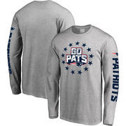 New England Patriots NFL Pro Line Hometown Collection Long Sleeve T-Shirt - Heathered Gray