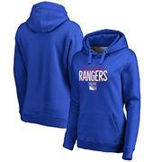 New York Rangers Women's Nostalgia Pullover Hoodie - Blue