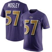 C.J. Mosley Baltimore Ravens Nike Color Rush Player Pride Name & Number T-Shirt - Purple
