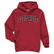 Louisville Cardinals Fanatics Branded Youth Campus Pullover Hoodie - Red