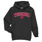 Wisconsin Badgers Fanatics Branded Youth Campus Pullover Hoodie - Black