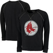 Boston Red Sox Majestic Threads Vintage Terry Crew Raglan Sweatshirt - Navy