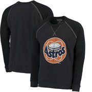Houston Astros Majestic Threads Vintage Terry Crew Raglan Sweatshirt - Navy
