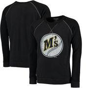 Seattle Mariners Majestic Threads Vintage Terry Crew Raglan Sweatshirt - Navy