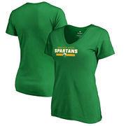 Norfolk State Spartans Fanatics Branded Women's Team Strong V-Neck T-Shirt - Kelly Green