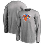 New York Knicks Fanatics Branded Youth Primary Logo Long Sleeve T-Shirt - Gray