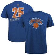 Derrick Rose New York Knicks Majestic Threads Name & Number Tri-Blend T-Shirt - Royal