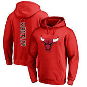 Jimmy Butler Chicago Bulls Fanatics Branded Backer Name and Number Pullover Hoodie - Red