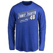 Jimmie Johnson Youth Crank Shaft Long Sleeve T-Shirt - Royal -