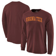 Virginia Tech Hokies Basic Arch Long Sleeve T-Shirt - Maroon