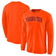 Virginia Tech Hokies Basic Arch Long Sleeve T-Shirt - Orange