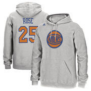 Derrick Rose New York Knicks adidas Name and Number Pullover Hoodie - Heathered Gray