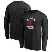 Miami Heat Fanatics Branded Primary Logo Long Sleeve T-Shirt - Black