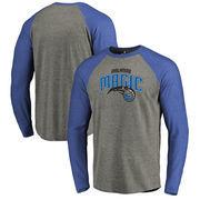 Orlando Magic Fanatics Branded Primary Logo Raglan Long Sleeve T-Shirt - Heathered Gray