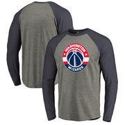 Washington Wizards Fanatics Branded Primary Logo Raglan Long Sleeve T-Shirt - Heathered Gray