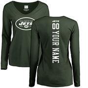 New York Jets NFL Pro Line Women's Personalized Backer Long Sleeve T-Shirt - Green