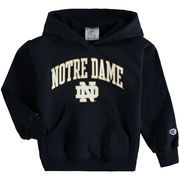 Notre Dame Fighting Irish Champion Youth Arch Logo Pullover Hoodie - Navy