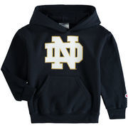Notre Dame Fighting Irish Champion Youth Primary Logo Pullover Hoodie - Navy