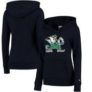 Notre Dame Fighting Irish Champion Women's Primary Logo Pullover Hoodie - Navy