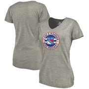 New York Rangers Women's Hometown Collection I Am A Ranger Tri-Blend V-Neck T-Shirt - Ash